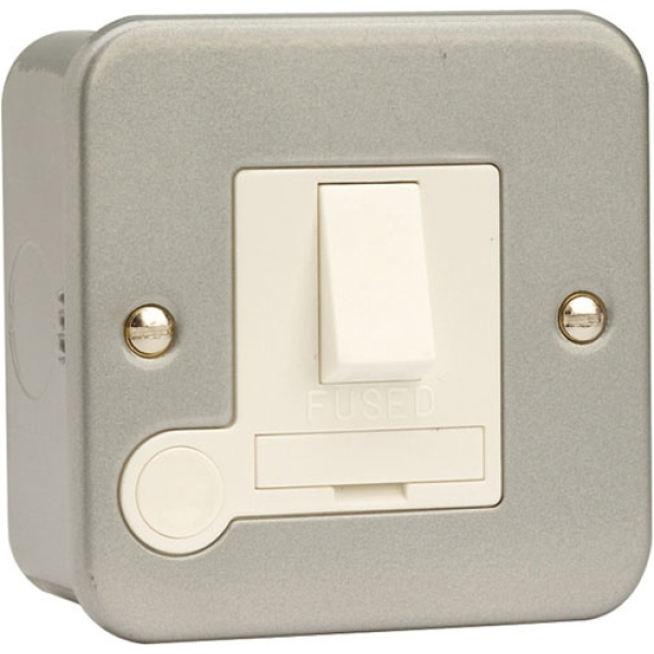 13A Click Scolmore CL051DP Metal Clad Fused Connection Unit c/w Optional Flex Outlet