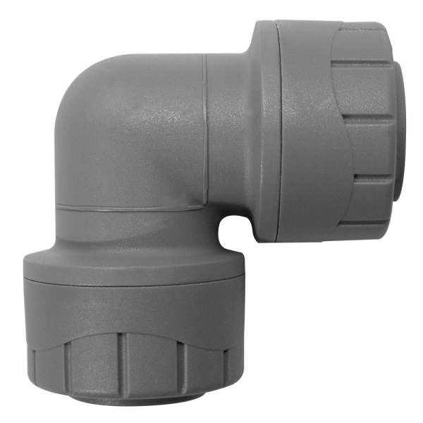 Polyplumb Elbow Grey 28mm