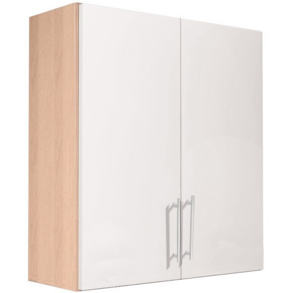 Vio Double Door Wall Unit 600 x 175 x 660mm Eden  White Gloss Soft White