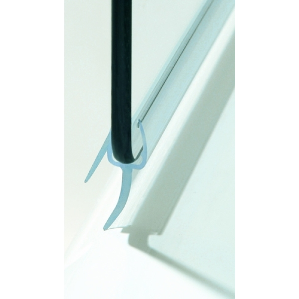 Frameless Sail Screen Plain Glass Chrome 1050mm Plain Glass Chrome