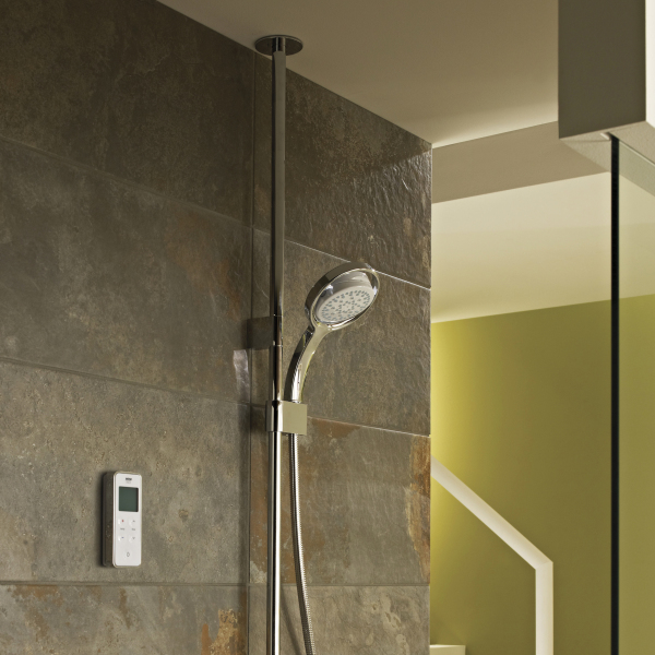 Mira Vision High Pressure Digital Mixer Ceiling Fed Shower Chrome