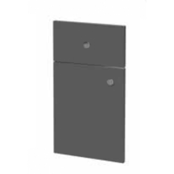 Atlanta 350mm Tall Wall Unit Novara Premium Anthracite Lustre/White Gloss Double Doors