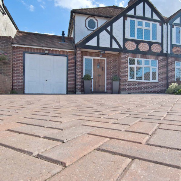 Omega Paving 60mm Depth Burnt Oak