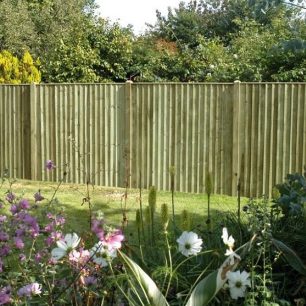 Featheredge Board Featheredge Board Green 22x125mm x1.65m