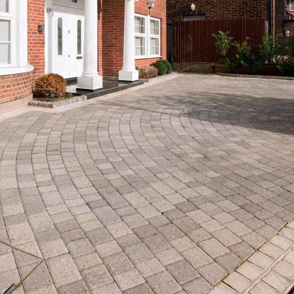 Regatta Cliffe Block Paving Pack Silver Haze