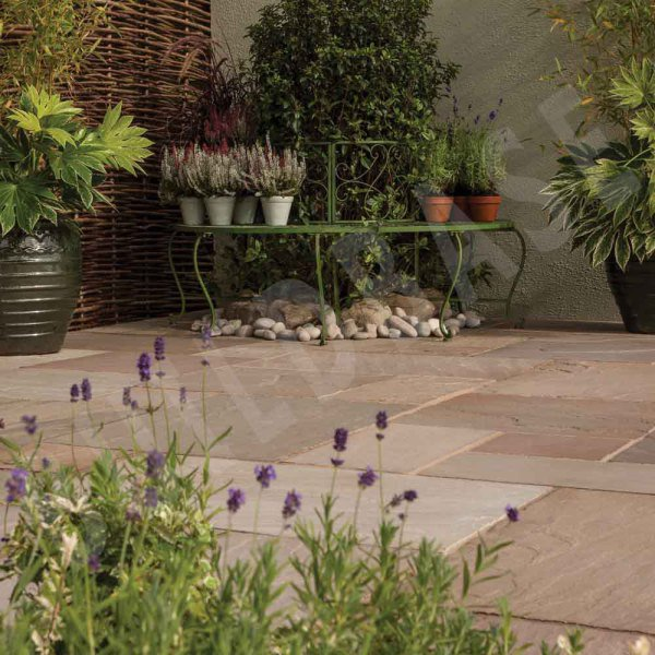 Sandstone Patio 2Ring Circle Autumn Green