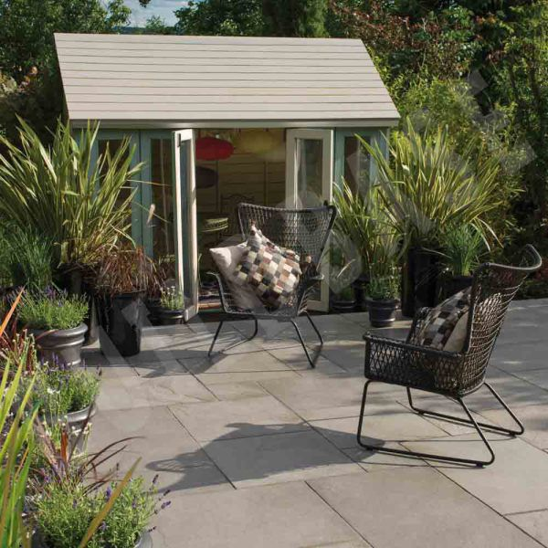 Riverwashed Limstone Patio Steel Grey