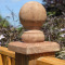 Ball Finial Post Cap Brown