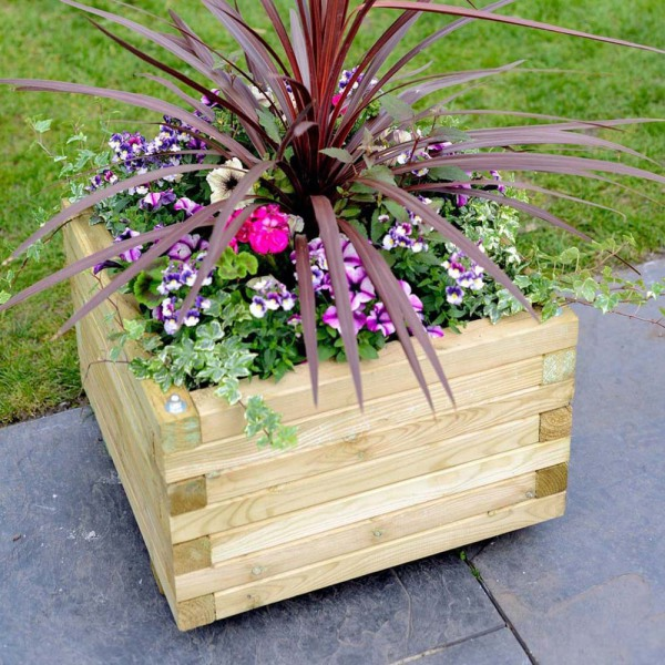 Elite Square Planter Medium 400x302x400mm