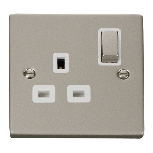 Click VPPN535WH 1 Gang 13A DP 'Ingot' Switched Socket Outlet | Electricbase