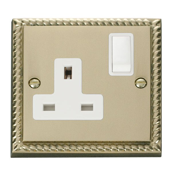 Click GCBR035WH 1 Gang 13A DP Switched Socket Outlet