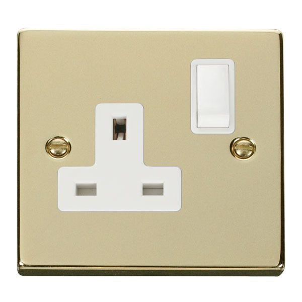 Click VPBR035WH 1 Gang 13A DP Switched Socket Outlet