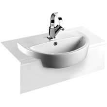 Roca Laura Semi Recessed Basin 1 Tap Hole 510mm