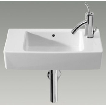 Roca Hall Basin 1 Tap Hole 1 Tap Hole Right Hand White