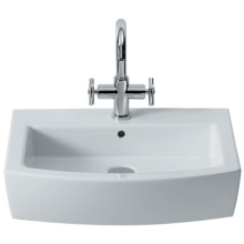 Roca Hall Basin 1 Tap Hole White 1 Tap Hole White 650mm