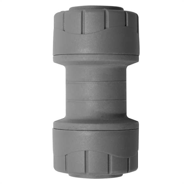 Polyplumb Straight Coupler Grey 10mm