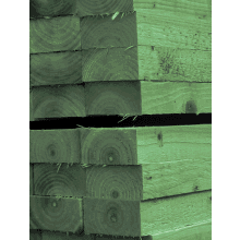 125x250x2400mm Railway Sleeper Treated Green