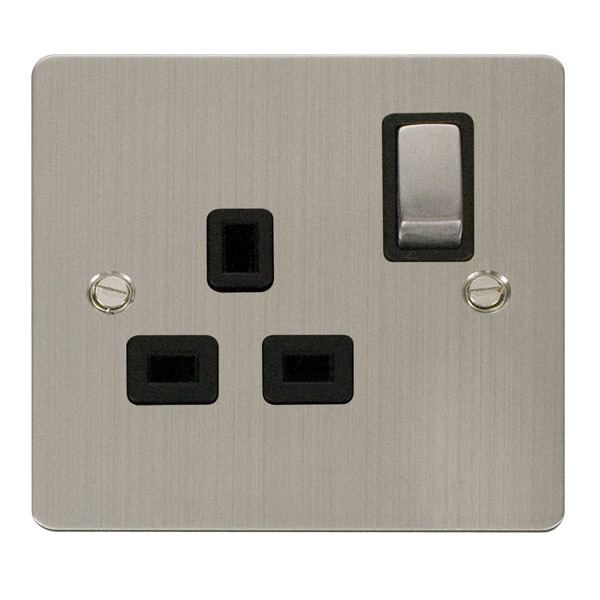 Click FPSS535BK Ingot 1 Gang 13A DP Switched Socket