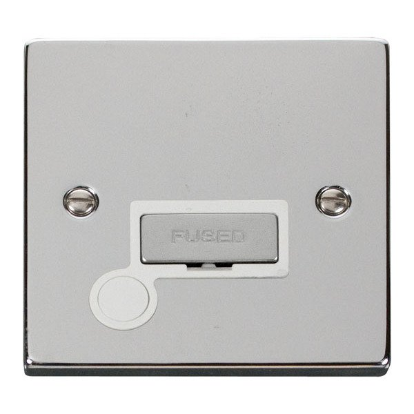 Click VPCH550WH 13A Fused 'Ingot' Connection Unit With Flex Outlet