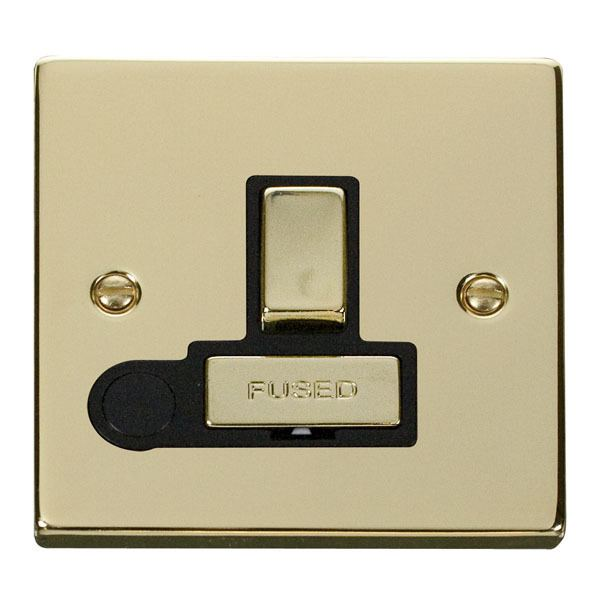 Click VPBR551BK 13A Fused 'Ingot' Switched Connection Unit With Flex Outlet