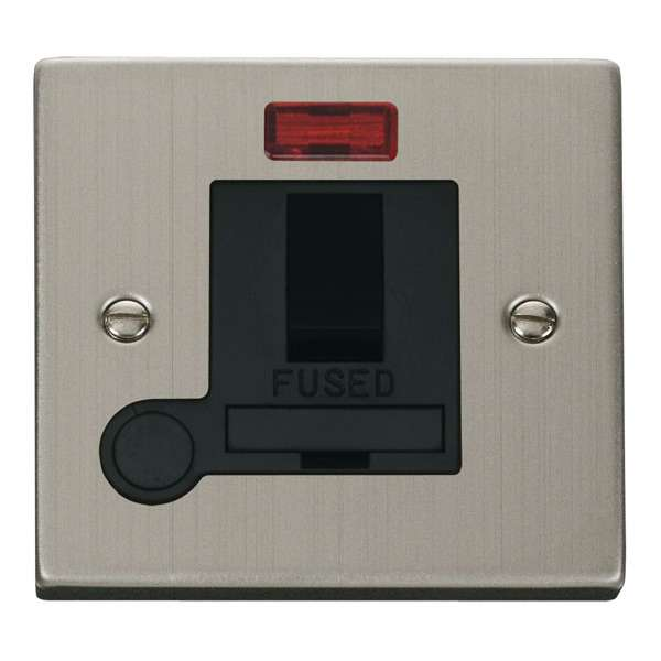 Click VPSS052BK 13A Fused Switched Connection Unit With Flex Outlet & Neon