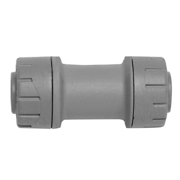 Polyplumb Straight Coupler Grey 15mm