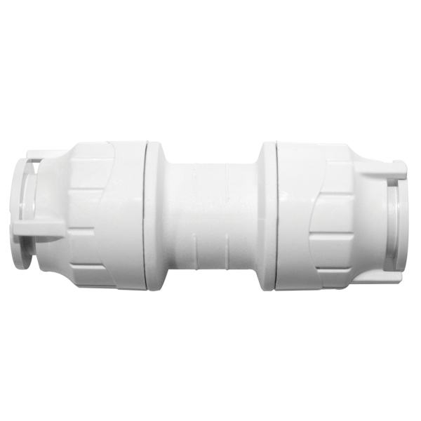 Polyfit Straight Coupler White 15mm
