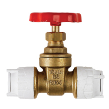 Polyfit Gate Valve White 15mm