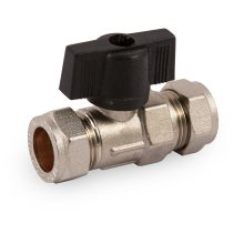 15mm High Pressure Isolating Valve Chrome With Handle