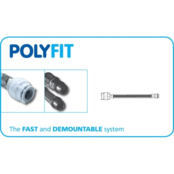 Polyfit Monobloc Mixer Flexible Tap Connector 15mm x M12