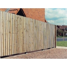 19 x 100 x 900mm Brown Treated Fencing Slats