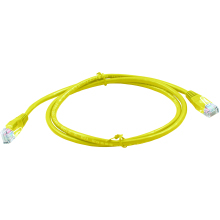 Connectix Cat 5E Patch Lead 1m Yellow