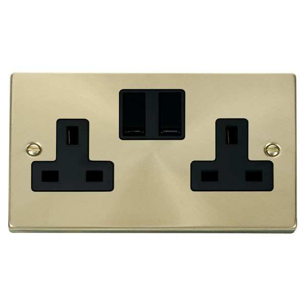 Click VPSB036BK 2 Gang 13A DP Switched Socket Outlet
