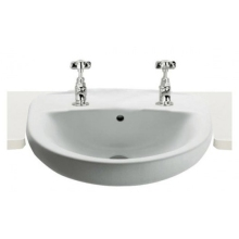 Roca Laura Semi Recessed Basin 2 Tap Hole 510mm