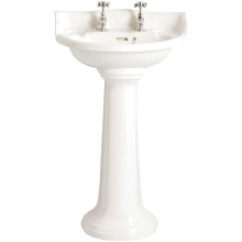 Heritage Dorchester Cloakroom Basin White 2 Taphole White