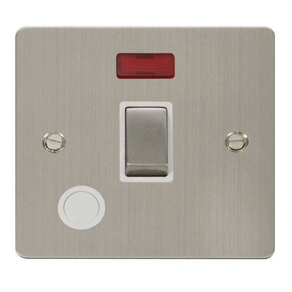 Click GCBR023WH 20A 1 Gang DP Switch With Flex Outlet And Neon