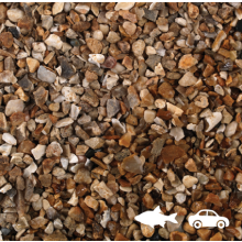 20mm Golden Gravel 25kg Poly Bag