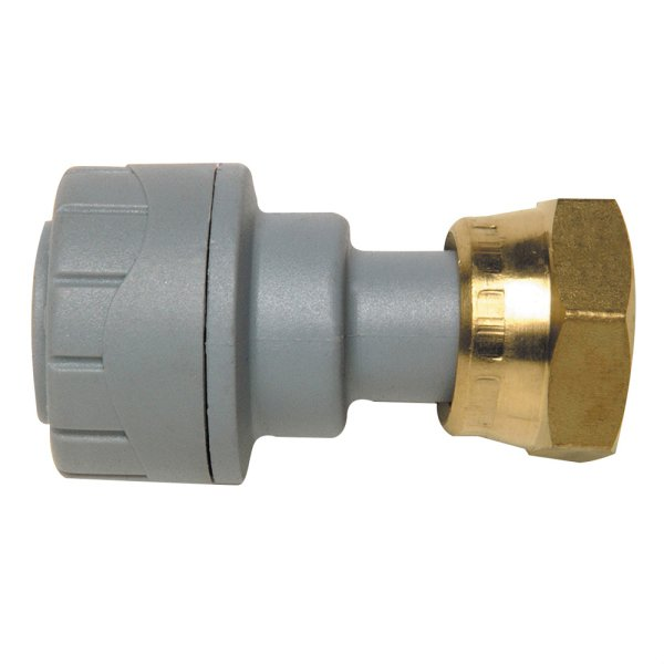 Polyplumb Straight Tap Connector Grey 22mm