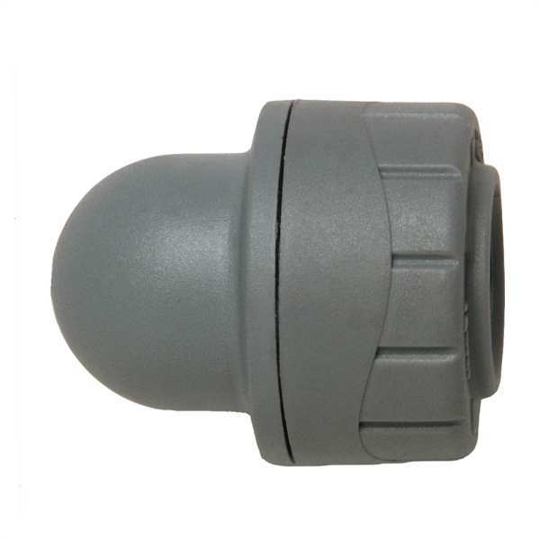 Polyplumb Socket Blank Cap Grey 22mm