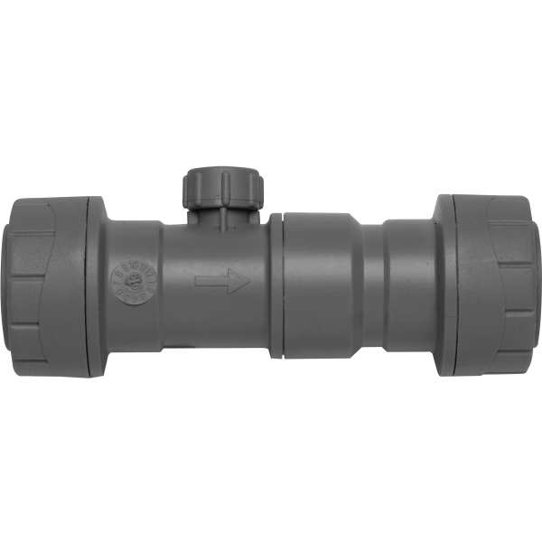 Polyplumb Double Check Valve Grey 22mm