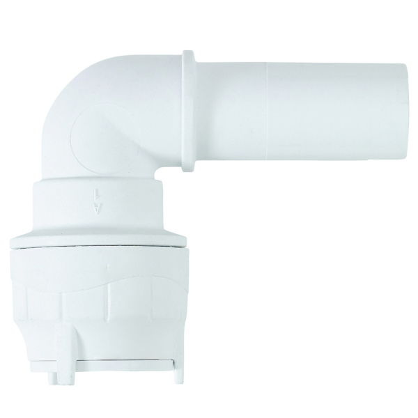 Polyfit Spigot Elbow White 22mm