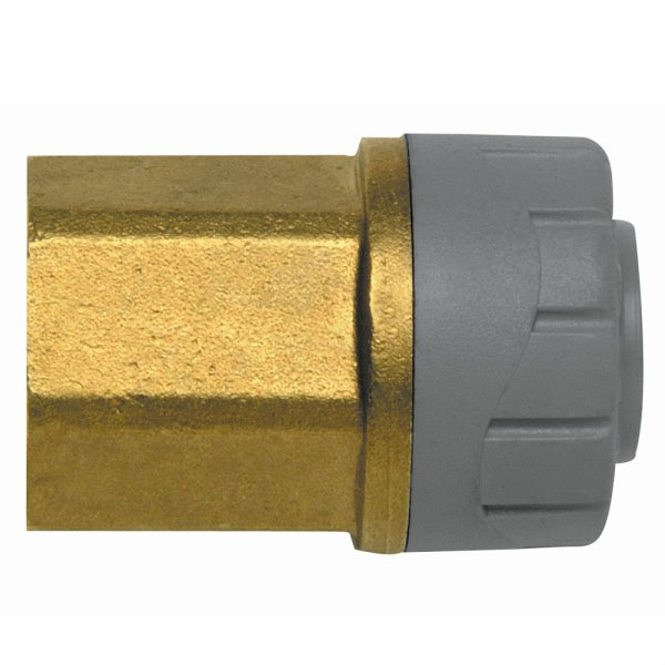 "Polyplumb FI Connector 22mm x 3/4"" Grey"