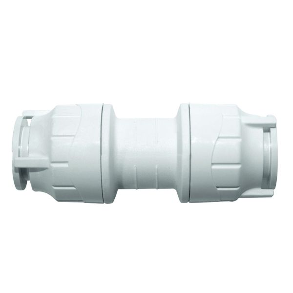 Polyfit Straight Coupler White 28mm