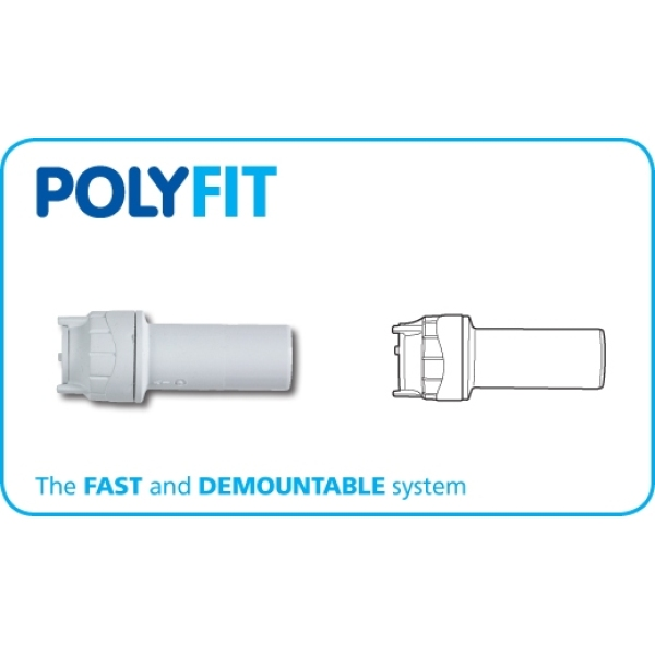 Polyfit Socket Reducer White 28mm x 22mm