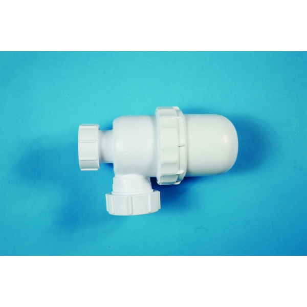 Polypipe Bottle Trap Anti Syphon 76mm Seal White 32mm
