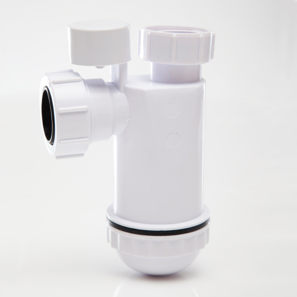 Polypipe Anti Syphon Bottle Trap 75mm Seal White 32mm