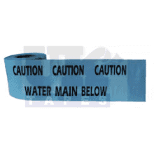 365m Roll Warning Tape Blue 'Water'