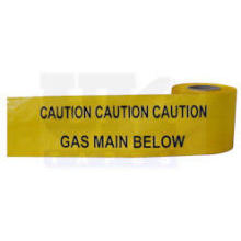 365m Roll Warning Tape Yellow 'Gas'