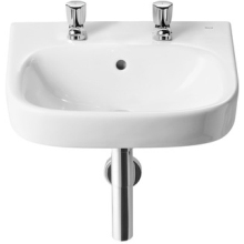 Roca Debba Wall Hung Basin Unit 450 2 Tapholes