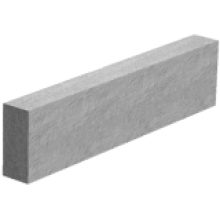 50x150mm Concrete Edging Flat Top